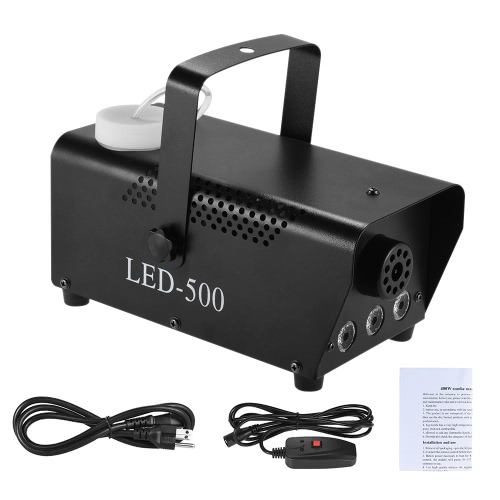 Colorful 400 Watt Fogger Fog Smoke Machine with LED Color Lights(Red, Blue, Green) Wired Remote Contol for Party Live Concert DJ BToys &amp; Hobbies<br>Colorful 400 Watt Fogger Fog Smoke Machine with LED Color Lights(Red, Blue, Green) Wired Remote Contol for Party Live Concert DJ B<br>