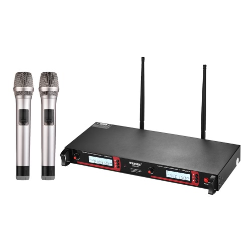 Professional Dual Channel UHF Wireless Handheld Microphone System 2 Microphones 1 Wireless Mic Receiver 6.35mm Audio Cable AC AdapToys &amp; Hobbies<br>Professional Dual Channel UHF Wireless Handheld Microphone System 2 Microphones 1 Wireless Mic Receiver 6.35mm Audio Cable AC Adap<br>