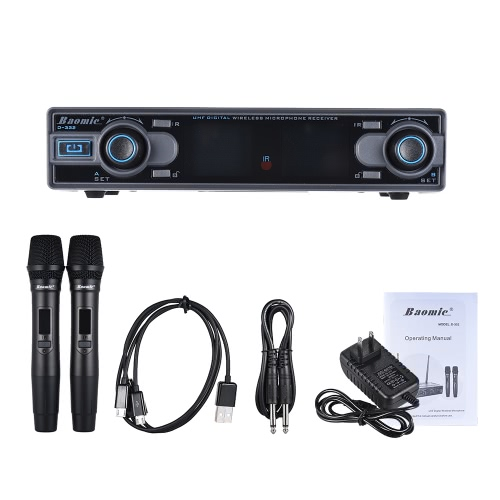 Baomic D-332 Professional Dual Channel UHF Digital Wireless Handheld Microphone SystemToys &amp; Hobbies<br>Baomic D-332 Professional Dual Channel UHF Digital Wireless Handheld Microphone System<br>