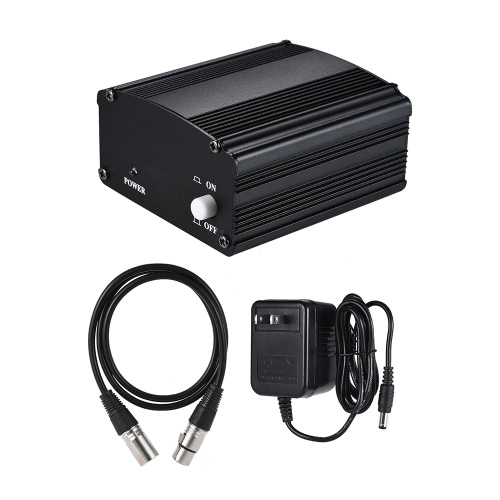 1-Channel 48V Phantom Power Supply with Adapter &amp; XLR Male to XLR Female Audio Cable for Condenser Microphone Studio Music RecordiToys &amp; Hobbies<br>1-Channel 48V Phantom Power Supply with Adapter &amp; XLR Male to XLR Female Audio Cable for Condenser Microphone Studio Music Recordi<br>