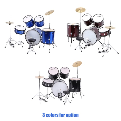ammoon 5-Piece Complete Adult Drum Set Drums Kit Percussion Musical Instrument with Cymbals Drumsticks Stands Adjustable StoolToys &amp; Hobbies<br>ammoon 5-Piece Complete Adult Drum Set Drums Kit Percussion Musical Instrument with Cymbals Drumsticks Stands Adjustable Stool<br>