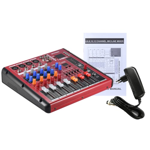 ammoon Digital Bluetooth 4-Channel Mic Line Audio Mixer Mixing Console for Recording DJ Stage Karaoke Music AppreciationToys &amp; Hobbies<br>ammoon Digital Bluetooth 4-Channel Mic Line Audio Mixer Mixing Console for Recording DJ Stage Karaoke Music Appreciation<br>