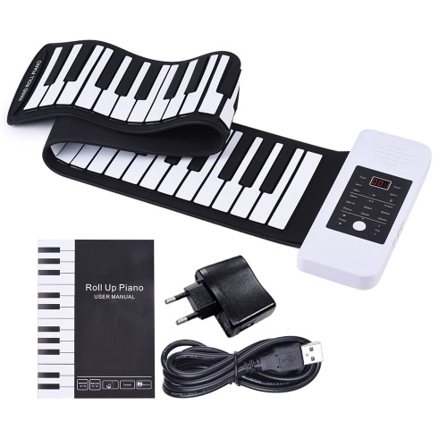 Portable Silicon 61 Keys Hand Roll Up Piano Electronic USB Keyboard with Built-in Li-ion Battery and Loud SpeakerToys &amp; Hobbies<br>Portable Silicon 61 Keys Hand Roll Up Piano Electronic USB Keyboard with Built-in Li-ion Battery and Loud Speaker<br>