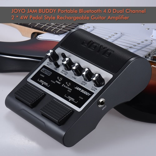 JOYO JAM BUDDY Portable Rechargeable Bluetooth 4.0 Dual Channel 2 * 4W Pedal Style Guitar Amplifier Amp Speaker with Delay OverdriComputer &amp; Stationery<br>JOYO JAM BUDDY Portable Rechargeable Bluetooth 4.0 Dual Channel 2 * 4W Pedal Style Guitar Amplifier Amp Speaker with Delay Overdri<br>