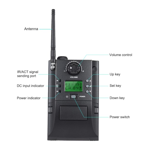 Portable UHF Instrument Wireless Microphone System with Receiver &amp; Transmitter 32 Channels for Sax SaxophoneToys &amp; Hobbies<br>Portable UHF Instrument Wireless Microphone System with Receiver &amp; Transmitter 32 Channels for Sax Saxophone<br>
