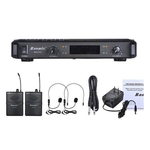 Baomic BM-U752 Professional Dual Channel UHF Digital Wireless Headset Microphone SystemToys &amp; Hobbies<br>Baomic BM-U752 Professional Dual Channel UHF Digital Wireless Headset Microphone System<br>