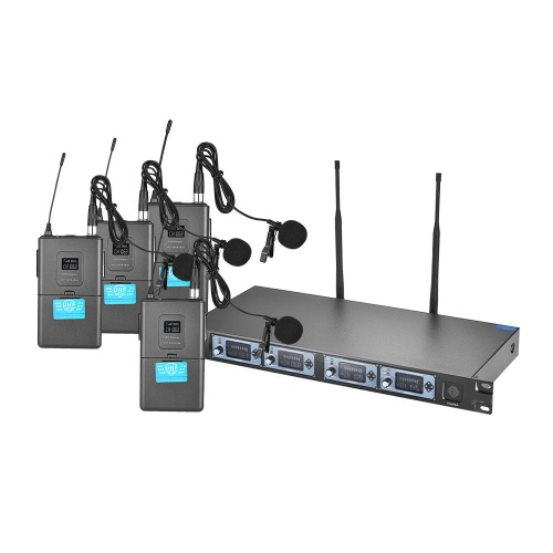 ammoon 4S Professional 4 Channel UHF Wireless Lavalier Lapel Collar Clip-on Microphone System for Karaoke Family Party PresentatioToys &amp; Hobbies<br>ammoon 4S Professional 4 Channel UHF Wireless Lavalier Lapel Collar Clip-on Microphone System for Karaoke Family Party Presentatio<br>