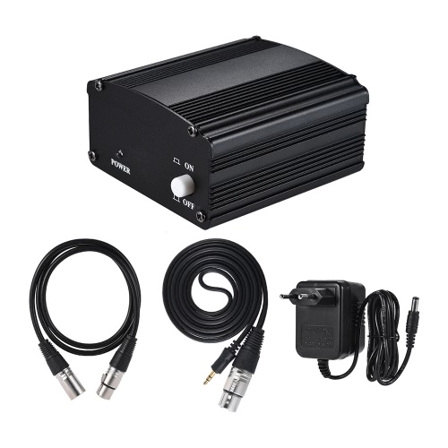 1-Channel 48V Phantom Power Supply with Adapter &amp; 3.5mm Male to XLR Female &amp; XLR Male to XLR Female Audio Cable for Condenser MicrToys &amp; Hobbies<br>1-Channel 48V Phantom Power Supply with Adapter &amp; 3.5mm Male to XLR Female &amp; XLR Male to XLR Female Audio Cable for Condenser Micr<br>