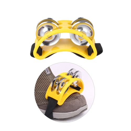 Foot Tambourine Percussion Musical Instrument 2 Sets Metal Jingle BellToys &amp; Hobbies<br>Foot Tambourine Percussion Musical Instrument 2 Sets Metal Jingle Bell<br>