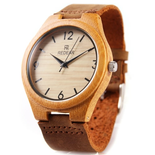 REDEAR Healthy Natural Bamboo Wristwatch Daily Water Resistant Simplicity Trendy Man Watch for Wedding AnniversaryApparel &amp; Jewelry<br>REDEAR Healthy Natural Bamboo Wristwatch Daily Water Resistant Simplicity Trendy Man Watch for Wedding Anniversary<br>