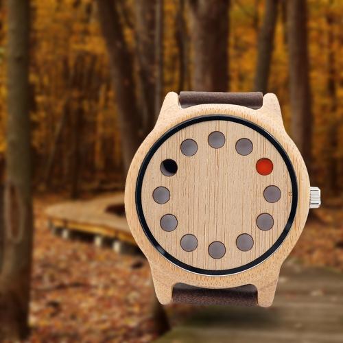 BOBOBIRD Fashion Casual Bamboo Watch Unisex Quartz Watch Genuine Leather Wooden Wristwatch Men WomenApparel &amp; Jewelry<br>BOBOBIRD Fashion Casual Bamboo Watch Unisex Quartz Watch Genuine Leather Wooden Wristwatch Men Women<br>