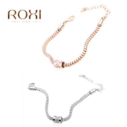 ROXI Women Girl Fashion White Gold Plated CZ Diamond Bead Bracelet Bangle Punk Style Jewelry AccessoryApparel &amp; Jewelry<br>ROXI Women Girl Fashion White Gold Plated CZ Diamond Bead Bracelet Bangle Punk Style Jewelry Accessory<br>