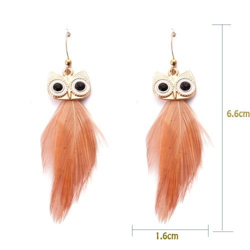 Fashion Hot New High Quality Vintage Earring with Animal Feather Pendant Ear Drop Owl Dangle Jewelry for Women GiftApparel &amp; Jewelry<br>Fashion Hot New High Quality Vintage Earring with Animal Feather Pendant Ear Drop Owl Dangle Jewelry for Women Gift<br>