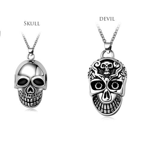 Romad Fashion Unique Charm Hot Punk Metal Stainless Steel Skull Pendant Necklace Chain Jewelry for Women Girl Man Unisex Party GifApparel &amp; Jewelry<br>Romad Fashion Unique Charm Hot Punk Metal Stainless Steel Skull Pendant Necklace Chain Jewelry for Women Girl Man Unisex Party Gif<br>