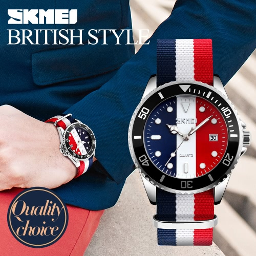 SKMEI Brand Fashion England Style Nylon Strap Men &amp; Women Casual Wristwatch Quartz Water-proof Lovers Watches Dress Watch CalendaApparel &amp; Jewelry<br>SKMEI Brand Fashion England Style Nylon Strap Men &amp; Women Casual Wristwatch Quartz Water-proof Lovers Watches Dress Watch Calenda<br>