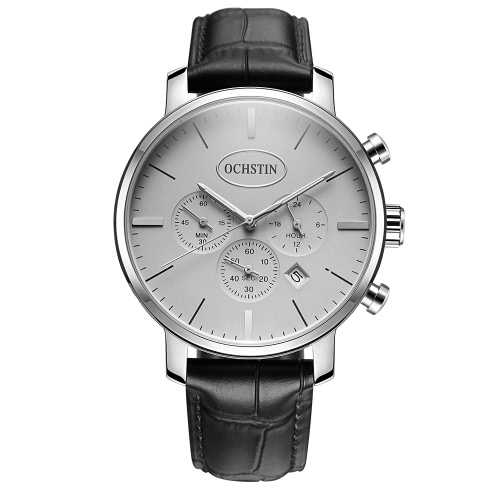 OCHSTIN Luxury Luminous Ultra Thin Quartz Men Casual Wristwatch Genuine Leather Water-Proof Military Watch Masculino Relogio + BoxApparel &amp; Jewelry<br>OCHSTIN Luxury Luminous Ultra Thin Quartz Men Casual Wristwatch Genuine Leather Water-Proof Military Watch Masculino Relogio + Box<br>