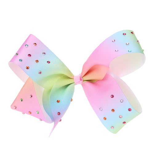 European and American Lady Beautiful Jewelry Colorful Bowknot Hairpin Rainbow Cloth with CrystalApparel &amp; Jewelry<br>European and American Lady Beautiful Jewelry Colorful Bowknot Hairpin Rainbow Cloth with Crystal<br>