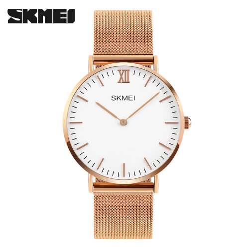 SKMEI 3ATM Water-resistant Fashion Casual Watch Quartz Lover Watch Stainless Steel Wristwatch Men WomenApparel &amp; Jewelry<br>SKMEI 3ATM Water-resistant Fashion Casual Watch Quartz Lover Watch Stainless Steel Wristwatch Men Women<br>