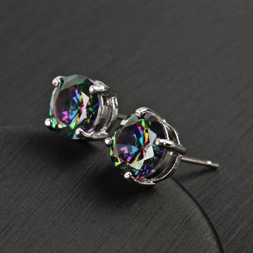 Round Shape Colorful Multi-aspect Crystal Diamond Ear Studs Women Ear Great DecorationApparel &amp; Jewelry<br>Round Shape Colorful Multi-aspect Crystal Diamond Ear Studs Women Ear Great Decoration<br>