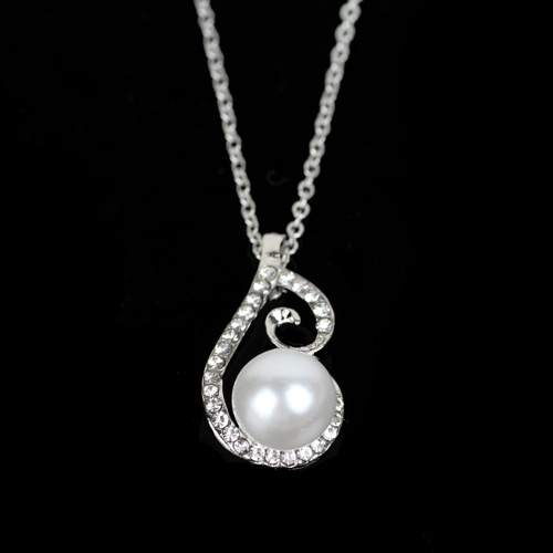 New Water-drop Pearl Rhinestone Necklace Earrings Jewelry Set for Party Wedding Bridal AccessoryApparel &amp; Jewelry<br>New Water-drop Pearl Rhinestone Necklace Earrings Jewelry Set for Party Wedding Bridal Accessory<br>