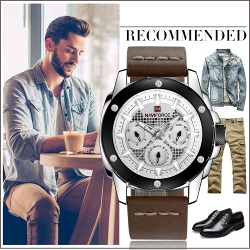 NAVIFORCE Luxury Luminous Quartz Digital Men Watch Water-Proof Sports Military Man Casual Wristwatch Genuine Leather + BoxApparel &amp; Jewelry<br>NAVIFORCE Luxury Luminous Quartz Digital Men Watch Water-Proof Sports Military Man Casual Wristwatch Genuine Leather + Box<br>