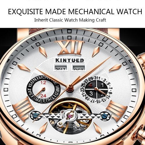 KINYUED Luxury Skeleton Self Wind Automatic Mechanical Men WatchApparel &amp; Jewelry<br>KINYUED Luxury Skeleton Self Wind Automatic Mechanical Men Watch<br>
