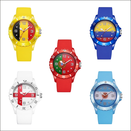 2018 Football World Cup Women Men Silicone Watches Brand Fashion Flag Quartz Watch Sports Casual WristwatchApparel &amp; Jewelry<br>2018 Football World Cup Women Men Silicone Watches Brand Fashion Flag Quartz Watch Sports Casual Wristwatch<br>