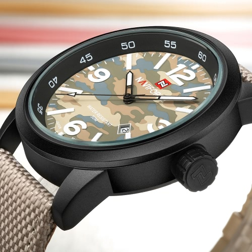 NAVIFORCE 2017 Fashion Camouflage Style Quartz Nylon Strap Men Casual Wristwatch 30M Water-Proof Sports Men Watch Maculino RelogioApparel &amp; Jewelry<br>NAVIFORCE 2017 Fashion Camouflage Style Quartz Nylon Strap Men Casual Wristwatch 30M Water-Proof Sports Men Watch Maculino Relogio<br>