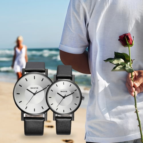 SKONE Fashion Luxury Quartz Couple Watches Water-Proof PU Leather Lovers Watch Men Women Casual WristwatchApparel &amp; Jewelry<br>SKONE Fashion Luxury Quartz Couple Watches Water-Proof PU Leather Lovers Watch Men Women Casual Wristwatch<br>