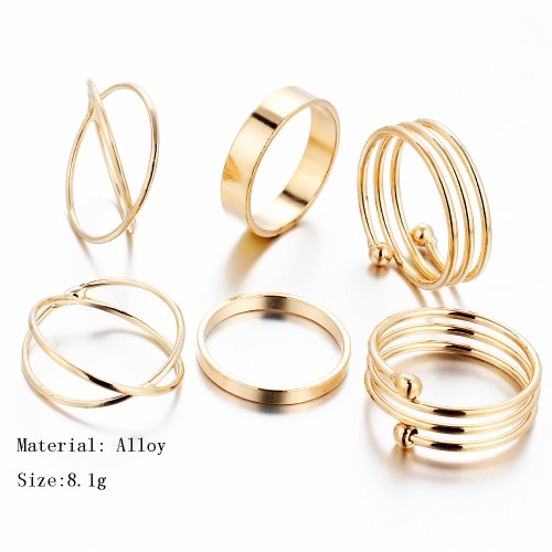 6Pcs Retro Vintage New Korean Joint Finger Knuckle Ring Fashion Jewelry Charm Accessories Gifts for Women AlloyApparel &amp; Jewelry<br>6Pcs Retro Vintage New Korean Joint Finger Knuckle Ring Fashion Jewelry Charm Accessories Gifts for Women Alloy<br>