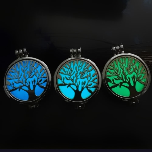 Delicate Jewelry Aromatherapy Necklace Tree of Life Pattern Locket Pendant Perfume Diffuser NecklaceApparel &amp; Jewelry<br>Delicate Jewelry Aromatherapy Necklace Tree of Life Pattern Locket Pendant Perfume Diffuser Necklace<br>