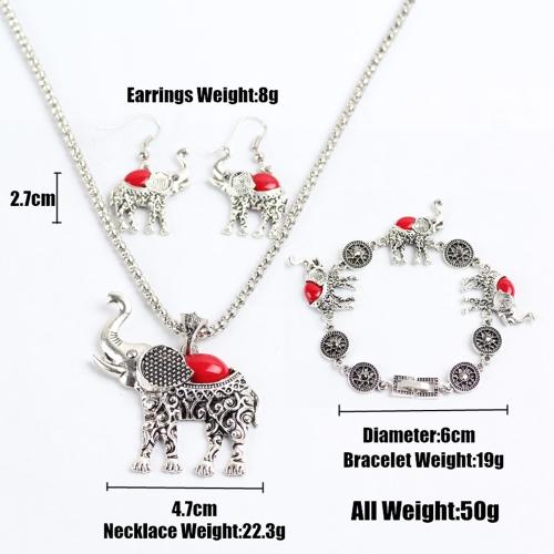 Fashion Retro Bohemian Style Owl Elephant Three-pieces Bracelet Earrings Necklace Jewelry SetApparel &amp; Jewelry<br>Fashion Retro Bohemian Style Owl Elephant Three-pieces Bracelet Earrings Necklace Jewelry Set<br>