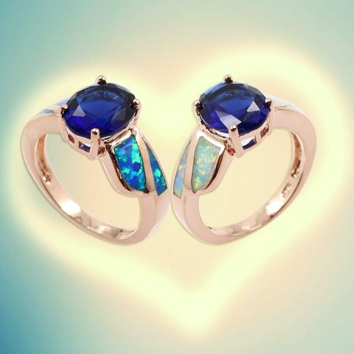 Fashion CZ Diamond Simulated Opal 925 Sterling Silver Ring Women Girl Wedding Engagement Jewelry AccessoryApparel &amp; Jewelry<br>Fashion CZ Diamond Simulated Opal 925 Sterling Silver Ring Women Girl Wedding Engagement Jewelry Accessory<br>