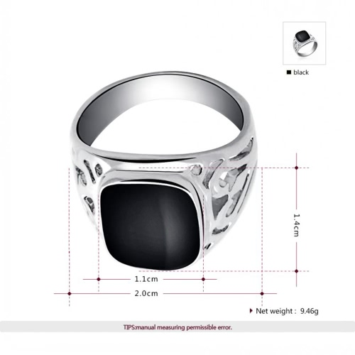 ROXI Fashion Enamel Geometric Square Hollow Ring Popular Europe Style Women Bride Wedding Engagement Jewelry AccessoryApparel &amp; Jewelry<br>ROXI Fashion Enamel Geometric Square Hollow Ring Popular Europe Style Women Bride Wedding Engagement Jewelry Accessory<br>