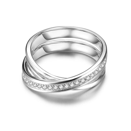 JURE 925 Sterling Silver Ring Zirconia Cross-shaped Wedding Engagement Ring Proposal Bridal Halo ReplacementApparel &amp; Jewelry<br>JURE 925 Sterling Silver Ring Zirconia Cross-shaped Wedding Engagement Ring Proposal Bridal Halo Replacement<br>
