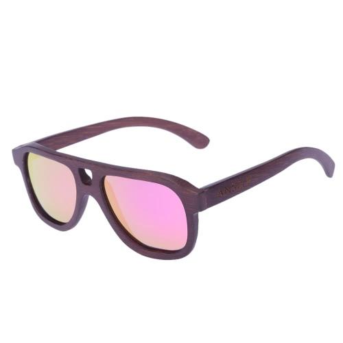 Anself Мода Bamboo деревянный Открытый спортивный велосипед Велоспорт очки UV400 поляризованные очки унисекс