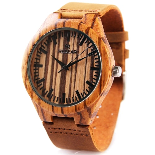 REDEAR Natural Wooden Quartz Wristwatch Daily Water Resistant High Quality Analog Man Watch for Wedding AnniversaryApparel &amp; Jewelry<br>REDEAR Natural Wooden Quartz Wristwatch Daily Water Resistant High Quality Analog Man Watch for Wedding Anniversary<br>