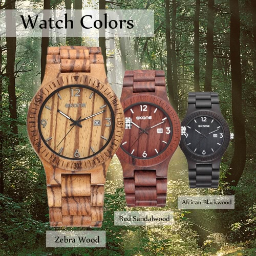 SKONE New Fashion Excellent Luminous Natural Wood Watch for Men Quartz Analog Vintage Man Wooden Casual Wristwatch Best GiftApparel &amp; Jewelry<br>SKONE New Fashion Excellent Luminous Natural Wood Watch for Men Quartz Analog Vintage Man Wooden Casual Wristwatch Best Gift<br>