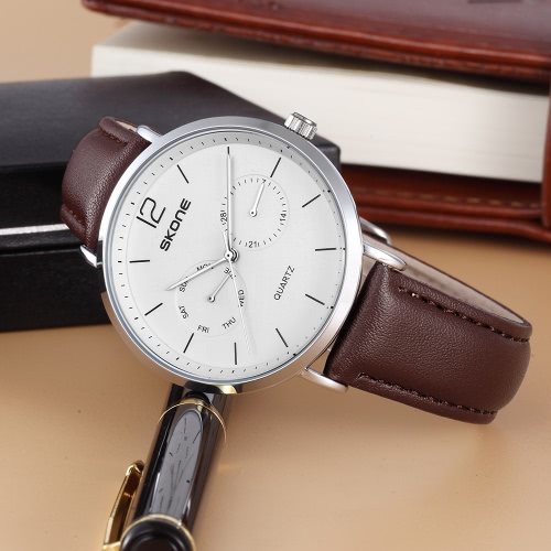 SKONE 2017 Fashion Quartz Men Casual Wristwatch 30M Water-Proof PU Leather Strap Man Dress Business Watch Masculino RelogioApparel &amp; Jewelry<br>SKONE 2017 Fashion Quartz Men Casual Wristwatch 30M Water-Proof PU Leather Strap Man Dress Business Watch Masculino Relogio<br>