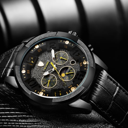 TEVISE Luxury Water-Proof Automatic Men Mechanical Watch Moon Phase Luminous Self-Winding Man Casual Wristwatch Chrono Genuine LeaApparel &amp; Jewelry<br>TEVISE Luxury Water-Proof Automatic Men Mechanical Watch Moon Phase Luminous Self-Winding Man Casual Wristwatch Chrono Genuine Lea<br>