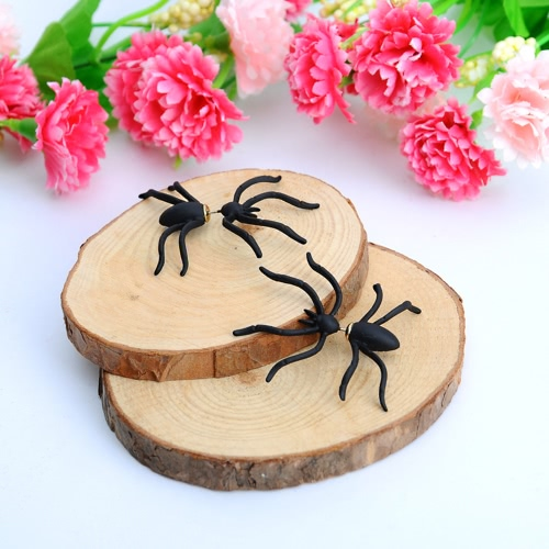 Punk Earring Black Spider Ear Studs Funny Style Weird Design Earrings Decoration Jewelry Accessory for PartyApparel &amp; Jewelry<br>Punk Earring Black Spider Ear Studs Funny Style Weird Design Earrings Decoration Jewelry Accessory for Party<br>