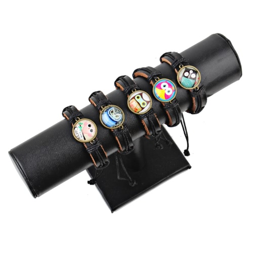 Cute Lovely Round Owl Woven Leather Wrist Bracelet for Women Vintage Jewelry Accessory GiftApparel &amp; Jewelry<br>Cute Lovely Round Owl Woven Leather Wrist Bracelet for Women Vintage Jewelry Accessory Gift<br>