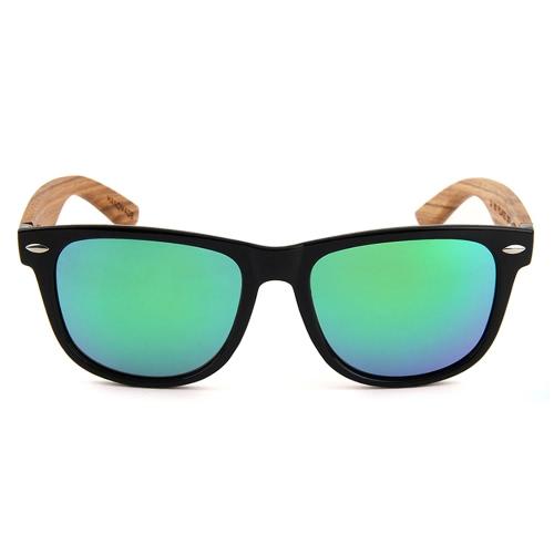 Модные Wayfarer натуральные деревянные солнцезащитные очки с поляризованными объективами для мужчин и женщин