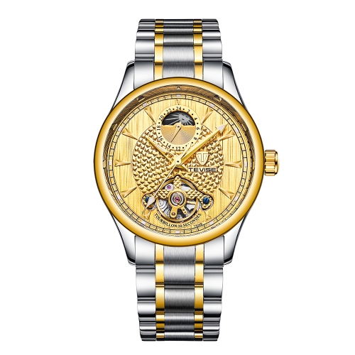 TEVISE Luxury Luminous Automatic Mechanical Watch Water-Proof Moon Phase Stainless Steel Man Business Wristwatch + BoxApparel &amp; Jewelry<br>TEVISE Luxury Luminous Automatic Mechanical Watch Water-Proof Moon Phase Stainless Steel Man Business Wristwatch + Box<br>