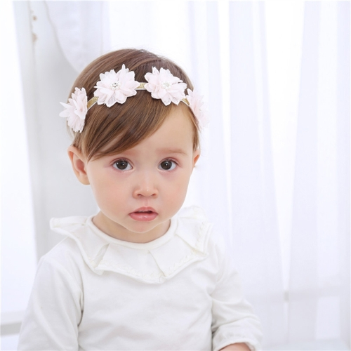 Cute Pink Bow Flower Lace Baby Hairband Elastic Comfortable for Infant Child HeadbandApparel &amp; Jewelry<br>Cute Pink Bow Flower Lace Baby Hairband Elastic Comfortable for Infant Child Headband<br>