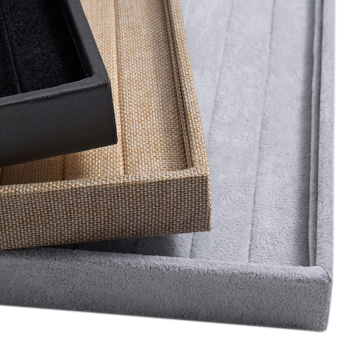 Velvet Linen Leather Rings Display Jewelry Storage Box Case Jewelry Display Tray Show CaseApparel &amp; Jewelry<br>Velvet Linen Leather Rings Display Jewelry Storage Box Case Jewelry Display Tray Show Case<br>