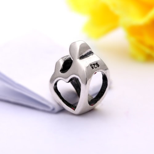 Romacci S925 Sterling Silver Love Heart Footprint DIY Charm Bead for 3mm Snake Chain Bracelet Bangle Fashion Women Jewelry AccessoApparel &amp; Jewelry<br>Romacci S925 Sterling Silver Love Heart Footprint DIY Charm Bead for 3mm Snake Chain Bracelet Bangle Fashion Women Jewelry Accesso<br>