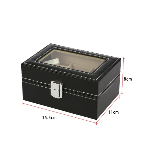 3-Slot PU Leather Fibreboard Watch Display Box Gorgeous Wristwatch Storage Organizer CaseApparel &amp; Jewelry<br>3-Slot PU Leather Fibreboard Watch Display Box Gorgeous Wristwatch Storage Organizer Case<br>