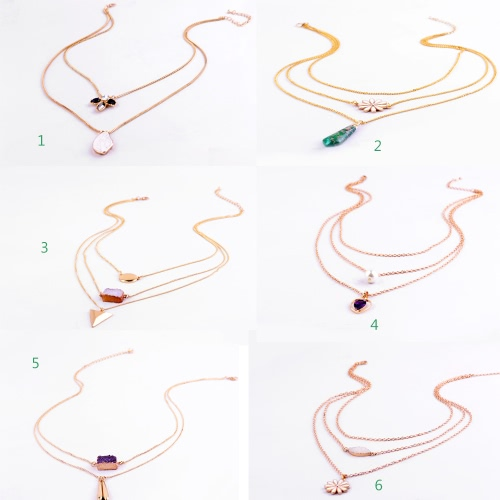 New Fahion Hot Multilayer Gold Plated Statement Necklace Choker Pendant Jewelry for Women Gift GirlsApparel &amp; Jewelry<br>New Fahion Hot Multilayer Gold Plated Statement Necklace Choker Pendant Jewelry for Women Gift Girls<br>