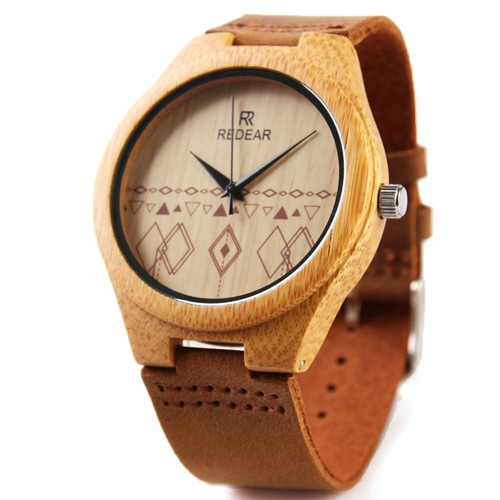 REDEAR Unique Natural Bamboo Wristwatch Daily Water Resistant Simplicity Trendy Man Watch for Wedding AnniversaryApparel &amp; Jewelry<br>REDEAR Unique Natural Bamboo Wristwatch Daily Water Resistant Simplicity Trendy Man Watch for Wedding Anniversary<br>